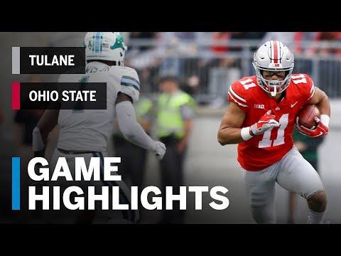 Highlights: Tulane Green Wave at Ohio State Buckeyes  Big Ten Football
