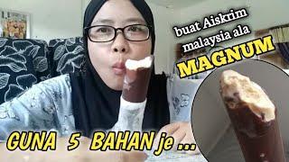 Aiskrim ala magnum | aiskrim malaysia viral mudah dan sedap