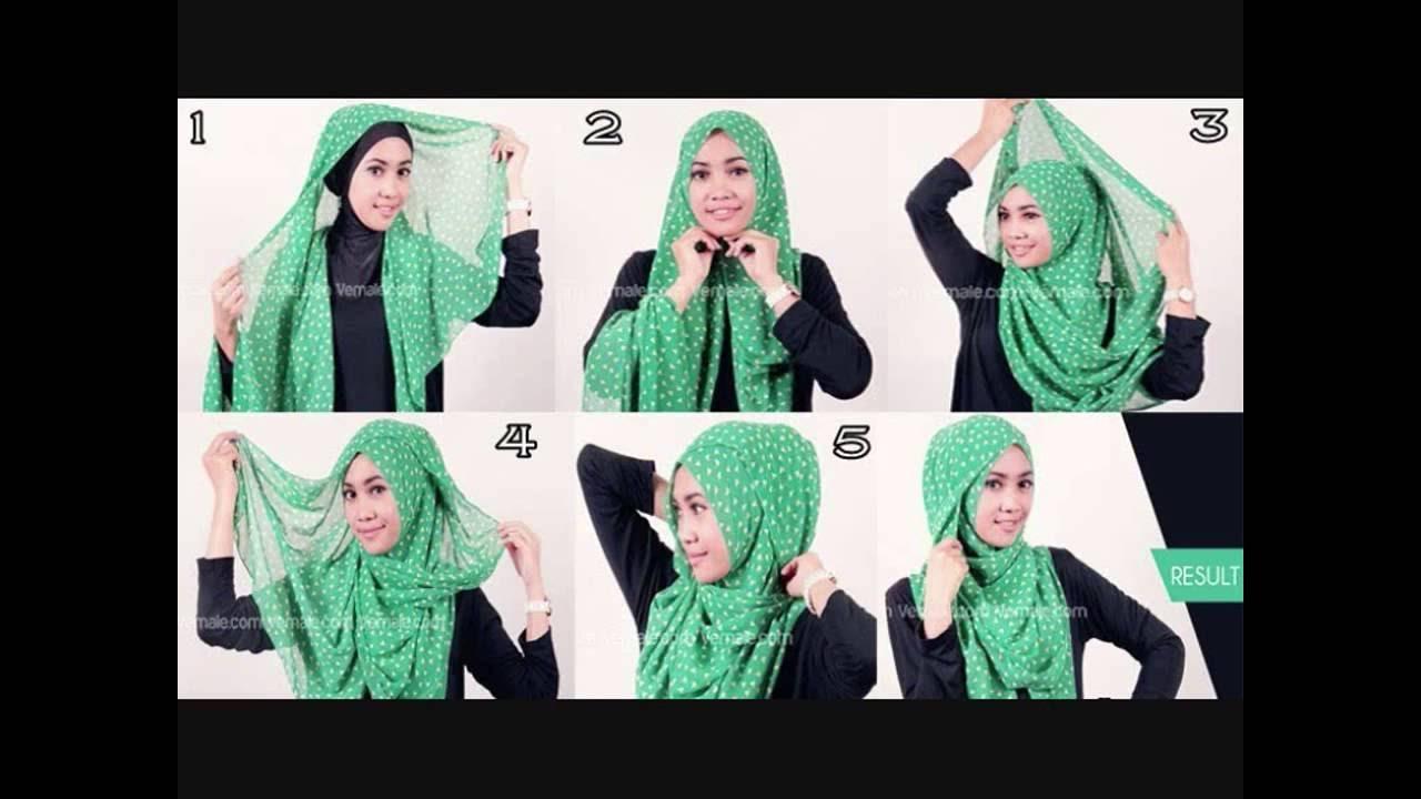 Cara Memakai Jilbab Cantik Dan Modern Segi Empat YouTube