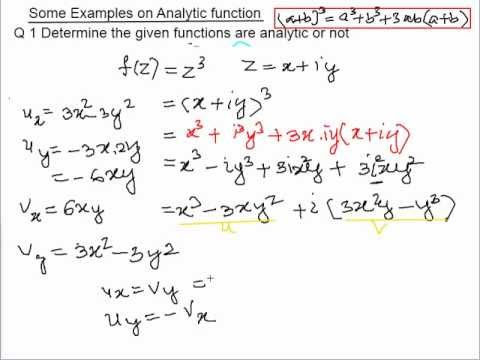 Examples on Analytic function - YouTube