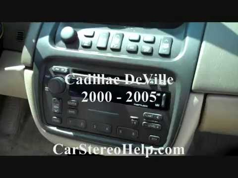 Cadillac DeVille Stereo Removal 2000 - 2005 - YouTube