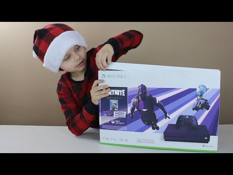 XBOX One FORNITE Special Edition - Dark Vertex Skin Unboxing Battle Royale Console Outfit Bundle