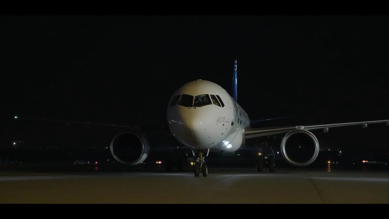 МС-21-300 Ночной полёт – MS-21-300 Night Flight - YouTube