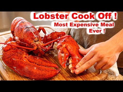 HUGE LOBSTER! Clean and Cook CHALLENGE!
