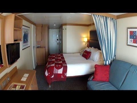 Disney Cruise Line Stateroom 9640 Room Tour on the Disney Dream - Includes Verandah View