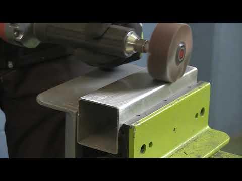 Finishing with Shaft mounted flap wheel - Rosver Abrasives
