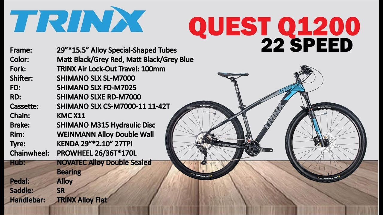 395d4eacb76 ALLOY 29' MOUNTAIN BIKE, 22 SPEED, TRINX, (QUEST Q1200) BICYCLE by huan  schen
