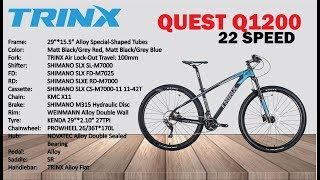 Alloy 29' Mountain Bike, 22 Speed, Trinx, (quest Q1200) Bicycle