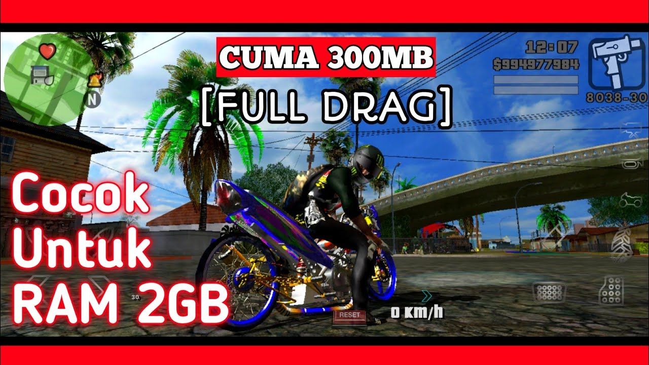 GTA SA Lite Drag HD Android APK+DATA 300MB (Full Drag)