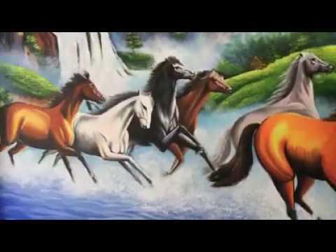 Vẽ tranh tường ngựa, mã đáo thành công tại Hoàng Mai, Hà Nội – Vẽ tranh nghệ thuật cực đẹp LH Zalo 0