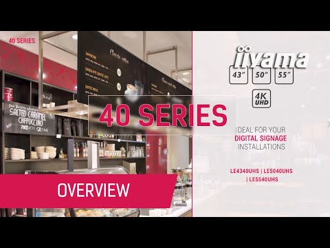40 Series - Made For Digital Signage And Huddle Spaces
