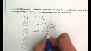 Intensity = power / area