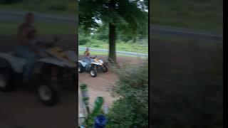 Riding the 4 wheeler with Pop-Pop