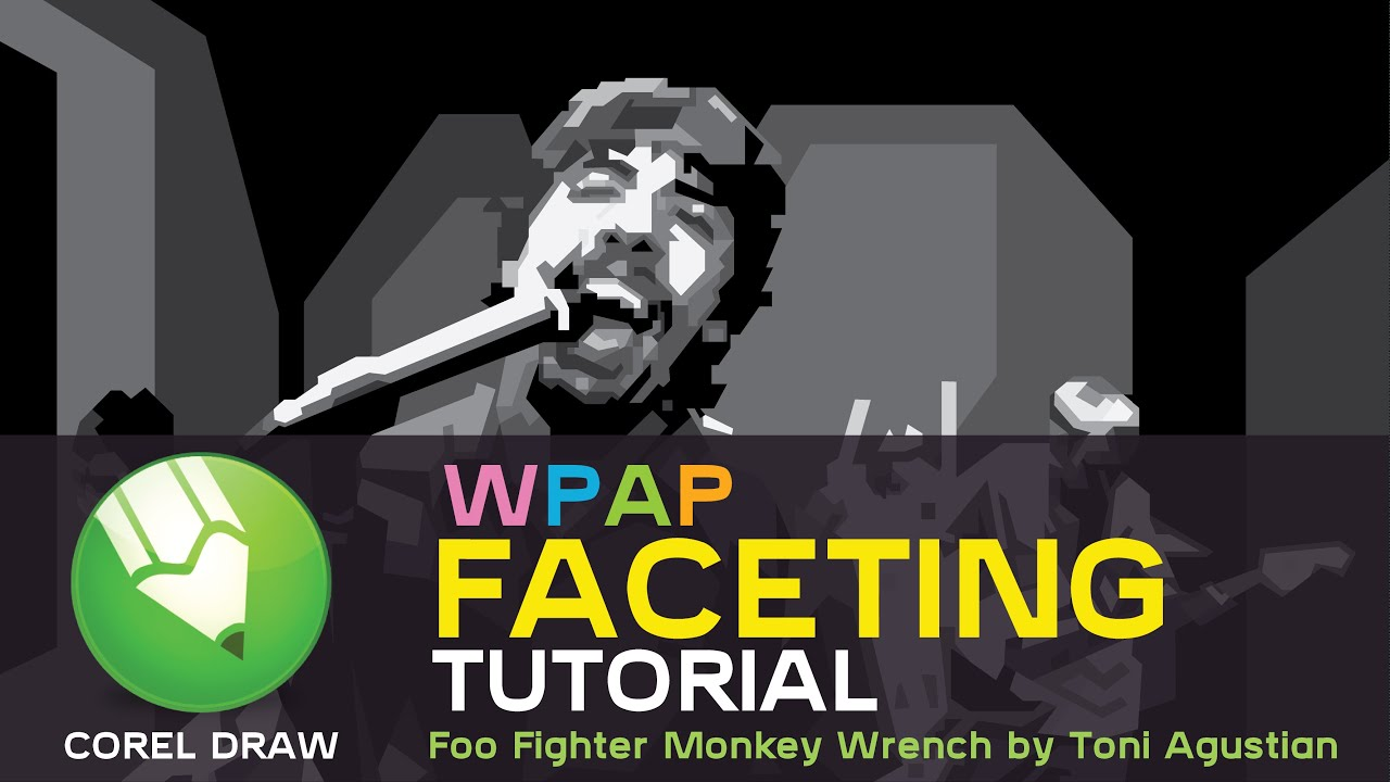 Video WPAP Vector Tutorial Foo Fighter by Toni Agustian