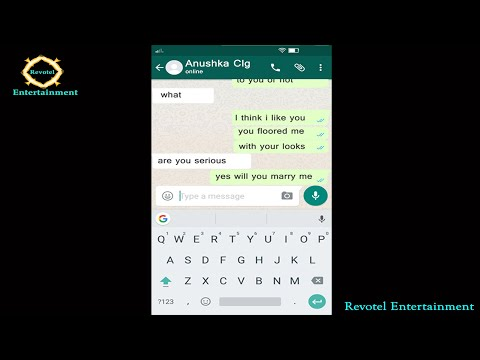 Love Conversation between Boy and Girl | Whatsapp Love Story | Revotel Entertainment