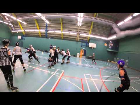 Killahurtz Roller Girls Jam 1 Bonty Python and Chaos Thor E