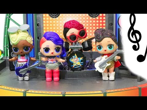 Rock Band Splits ! Toys and Dolls Fun for Kids Opening LOL Surprise Confetti Pop Blind Bag Balls
