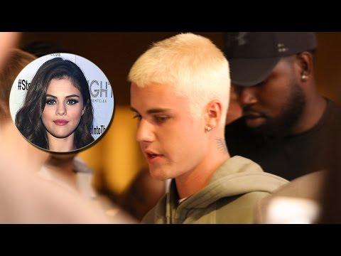Justin Bieber Refollows Selena Gomez & Dyes Hair Bleach Blonde