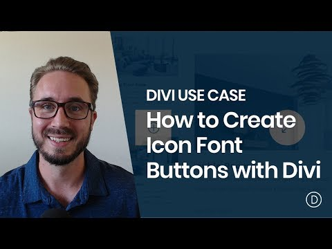 How to Create Icon Font Buttons with Divi