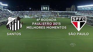 Melhores Momentos - Santos 0 x 0 São Paulo - Paulistão - 11/02/2015