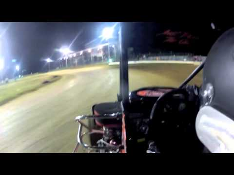 Brandon Rose in car Miami County Speedway 4-27-13