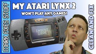 Atari Lynx II - Carts won't Load - INSERT GAME - Fix Fail and then Win!