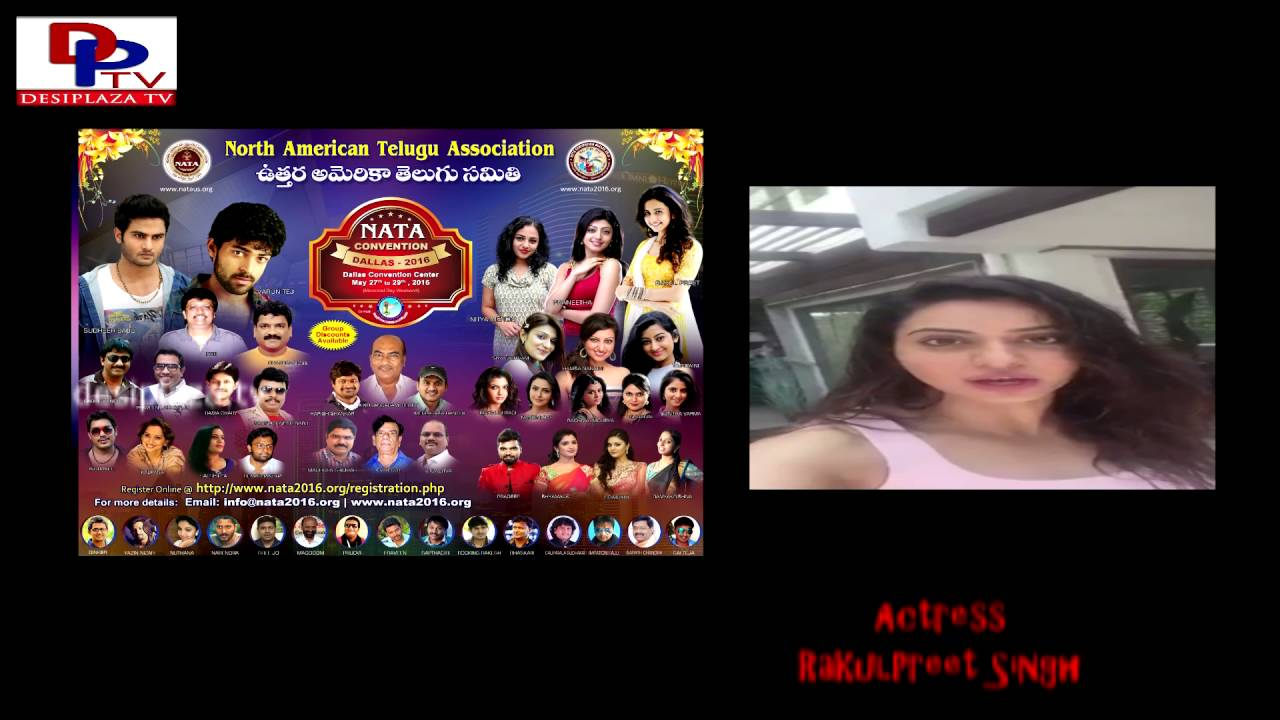 Rakul Preet Singh inviting everybody to NATA Convention