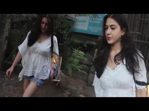 Hot sara ali khan in denim hot shorts youtube hot sara ali khan in denim hot shorts voltagebd Image collections