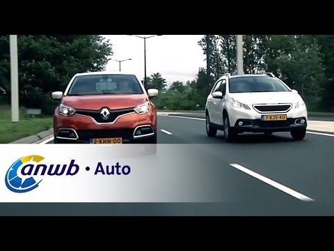 renault captur vs peugeot 2008 dubbeltest anwb auto youtube. Black Bedroom Furniture Sets. Home Design Ideas