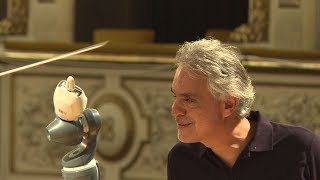 Robot conducts Andrea Bocelli and Italian orchestra in a world first
