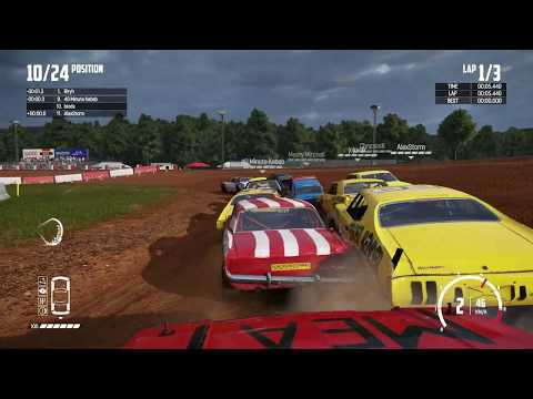 WRECKFEST - Figure of 8 Banger Race at the Bloomfield Speedway Gameplay