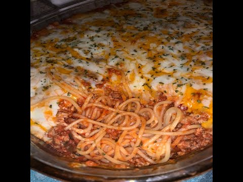 How To Cook: Baked Spaghetti (Million Dollar Spaghetti Recipe)