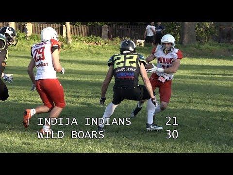 Indians Indjija - Wild Boars Kragujevac 21-30/SAAF 2018
