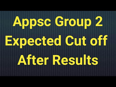 Appsc govt jobs | appsc group 2 cutoff | group 2 cutoff after Results