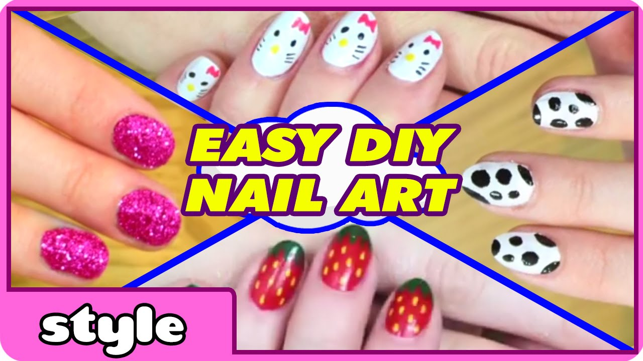 DIY Nail Art Without any Tools | Top 10 Nail Art Designs | Easy Nail ...