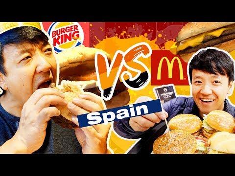 McDonald's VS. Burger King in Spain BEST BEEF in The World???