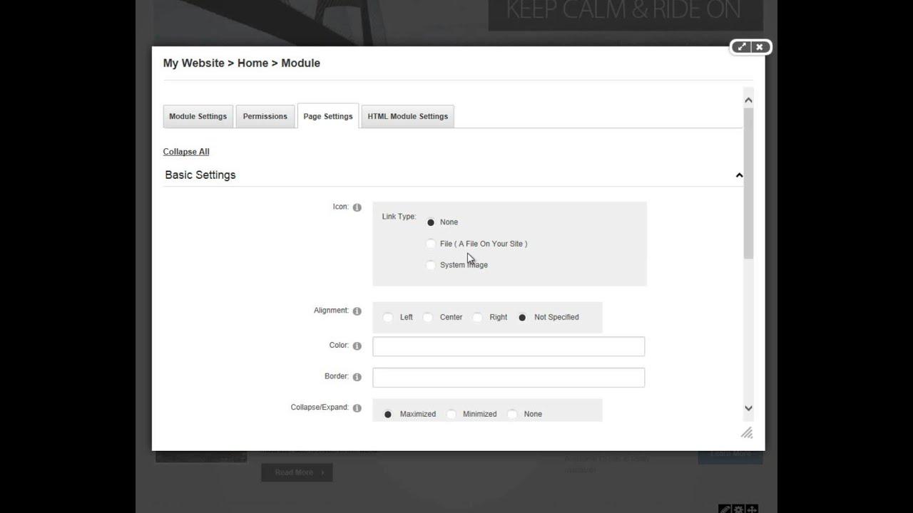 Overview of Module Settings in DotNetNuke 7 - YouTube