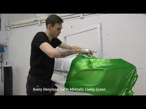 Автовинил. Обзор цвета - Avery Dennison Satin Mettalic Lively Green