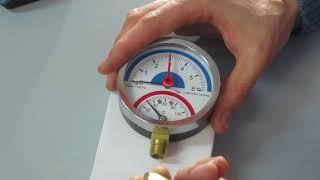 видео термоманометры для отопления