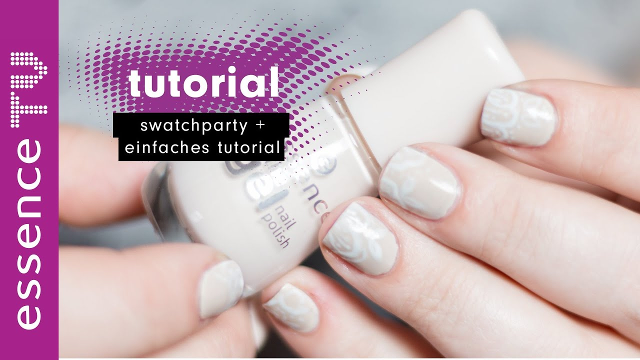 swatch party nude nagellacke drogerie + einfaches nail art tutorial ...