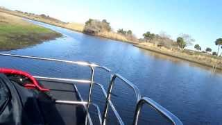 Boggy Creek Airboat Rides, Fanboat, Searching For Gators, Kissimmee, Florida, United States