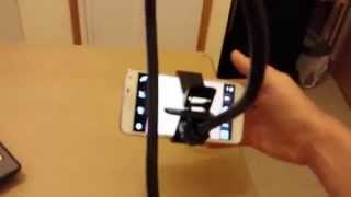 Phone Holder Review: Long Flexible Goose Neck / Arm: Better Then Tripod