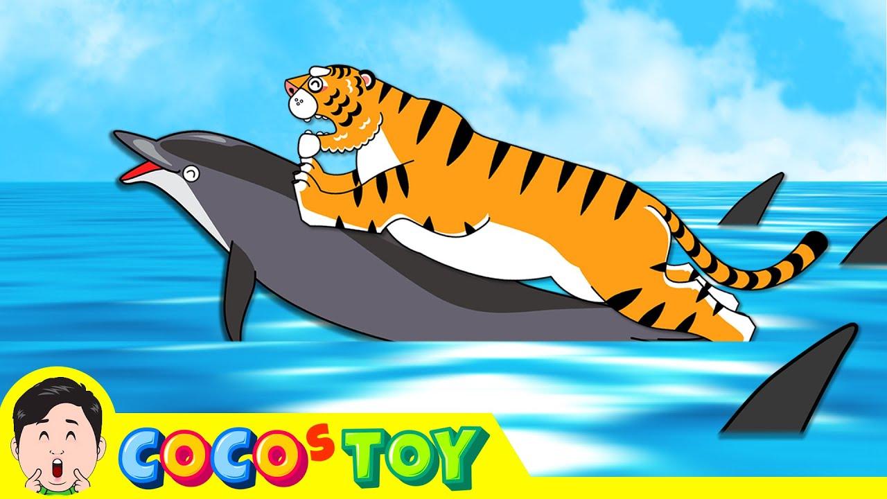 호랑이와 돌고래의 우정ㅣ어린이 동물만화, 창작동화ㅣ꼬꼬스토이