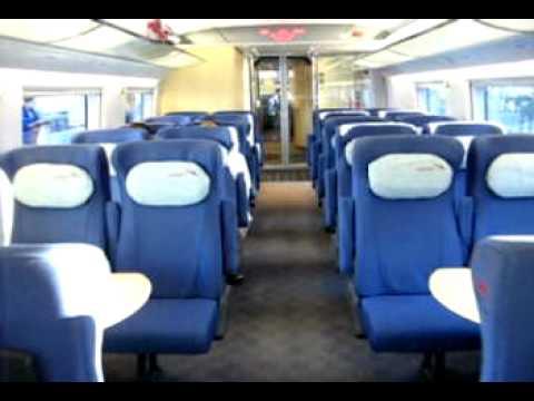 Поезд Сапсан изнутри