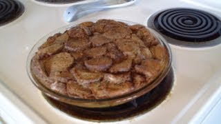 Chocolate Donut Hole Bread Pudding