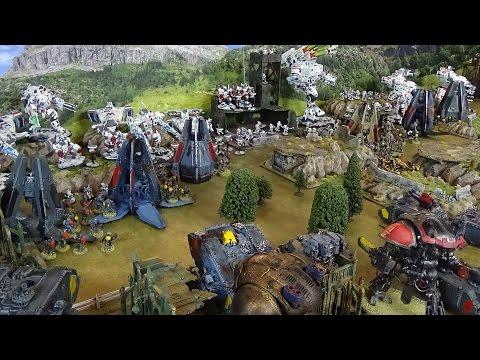 Apocalypse 40K Guest Battle Report Space Wolves vs Tau 10,000