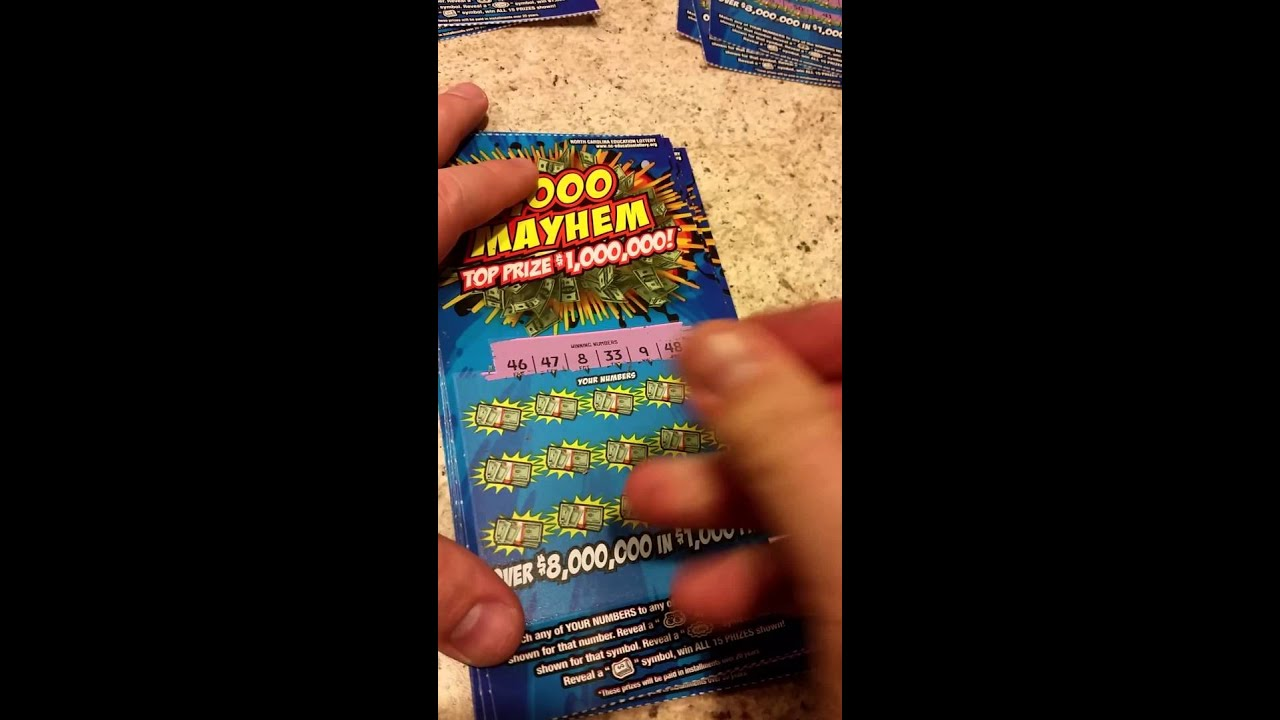 Whole roll of NC $10 scratch off $1000 Mayhem