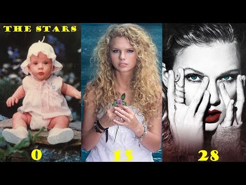 Taylor Swift    From 0 To 28 Years Old   Transformation Through The Years