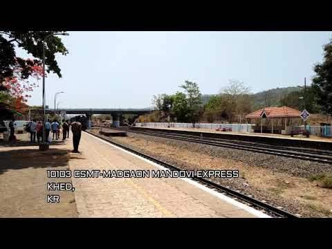 Konkan Railways : Foodking Of Konkan Railway Arriving Khed Station.... (#Mandoviexpress)