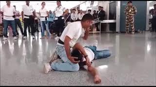 cisf nukkad natak at varanasi airport on world blood donor day